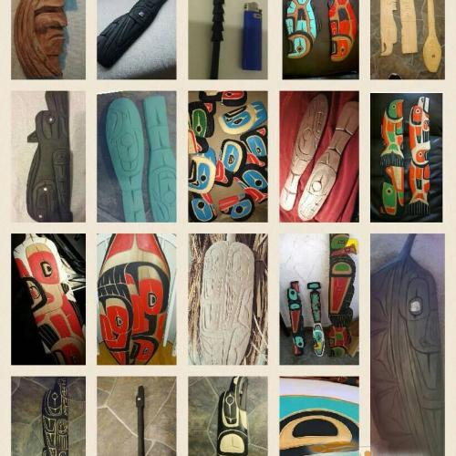 Carvings authentic indigenous artworks